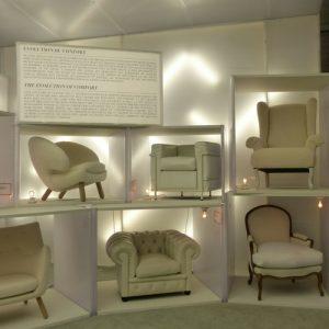 détail fauteuils exposition maison et objet