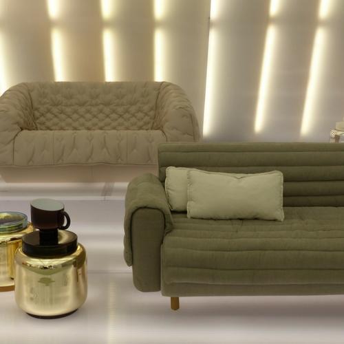 exposition fauteuil doudoune salon maison et objet