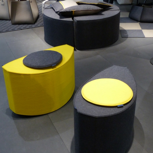 poufs Hey-sign en feutrine